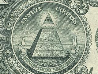 US-Siegel auf 1-Dollar-Note: kein Illuminatenzeichen … oder?
