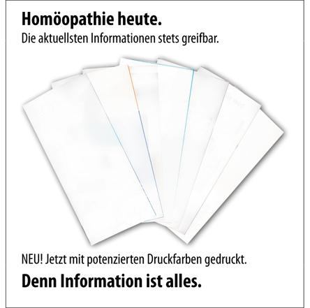 Homöopathie heute - potenzierte Druckfarben