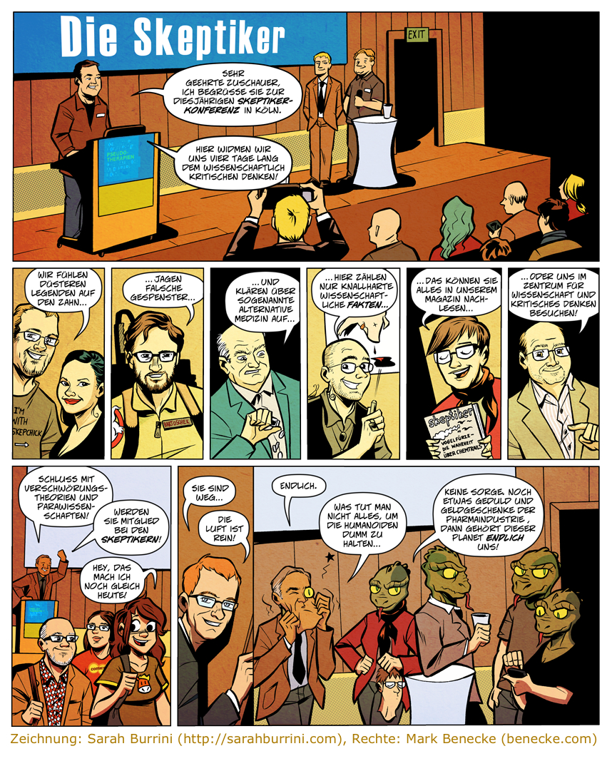 Skeptikercomic_GWUP_Skepcon_Cologne_2013_by_Sarah_Burrini_rights_by_Mark_Benecke