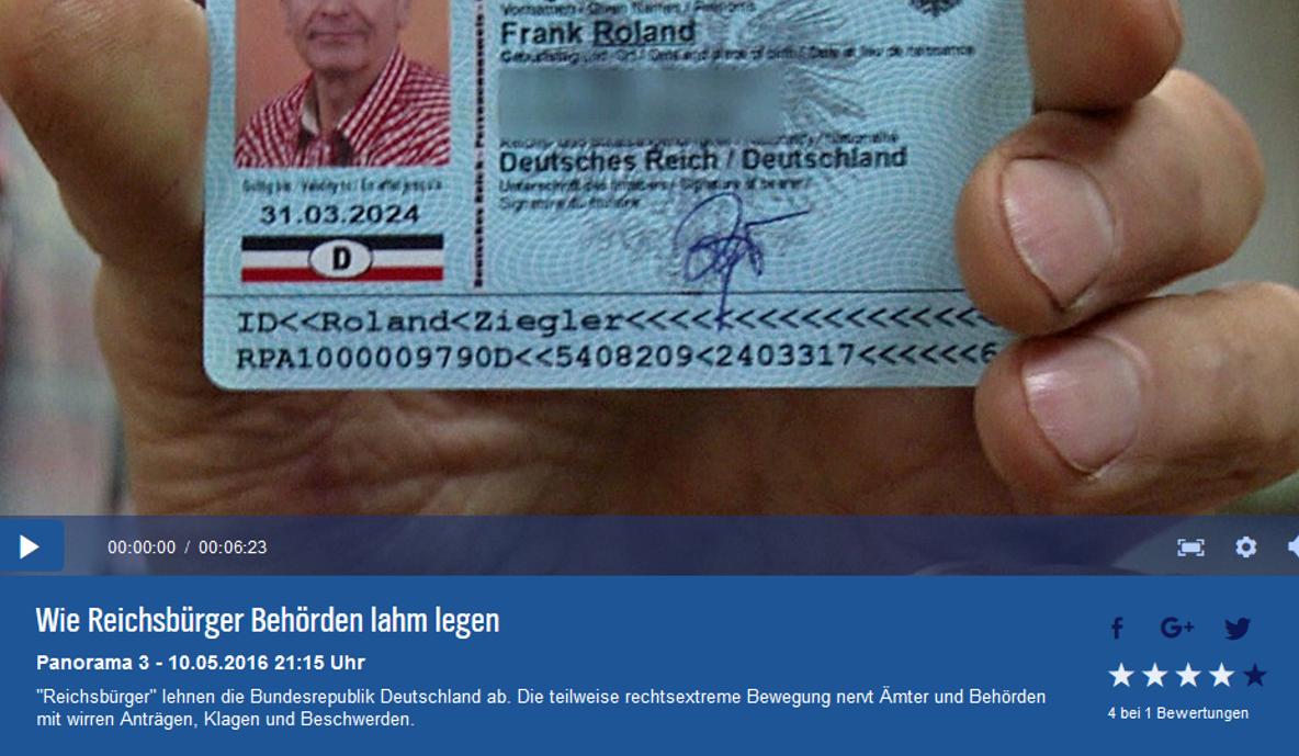 Video Wie Reichsbürger Behörden Lahmlegen Ndr Gwup Die