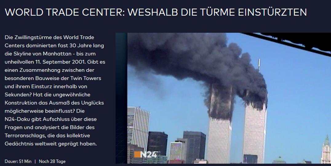 Video Doku World Trade Center Weshalb Die T 252 Rme