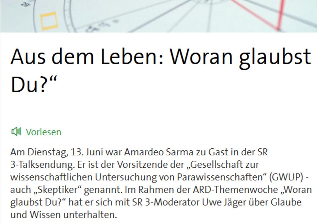 Jetzt online: Amardeo Sarma bei der ARD-Themenwoche   gwup   die ...